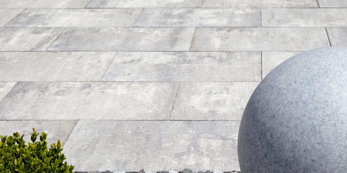 Terrassenplatten Marmorgrau